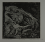 Drypoint etching by Lea Grundig of dead bodies wrapped around tank tread