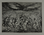 Drypoint etching by Lea Grundig of people trapped and running in circles