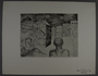 Drypoint etching by Lea Grundig of an isolated figure staring at a building