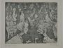 Plate 21, Herbert Sandberg series, Der Weg: cafe crowded with arguing artists