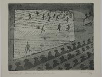 1988.12.24 front Plate 24, Herbert Sandberg series, Der Weg: people watching an Eisenstein film  Click to enlarge