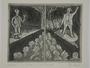 Plate 25, Herbert Sandberg series, Der Weg: two men performing on separate stages