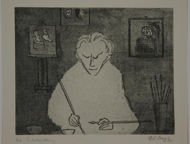 1988.12.28 front Plate 28, Herbert Sandberg series, Der Weg: a young painter at work