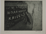 Plate 29, Herbert Sandberg series, Der Weg: a man painting Anti-Nazi graffitti