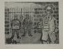 Plate 30, Herbert Sandberg series, Der Weg: man with a Red Aid jar at a factory strike