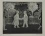 Plate 38, Herbert Sandberg series, Der Weg: 2 men exchanging a note in a park at night