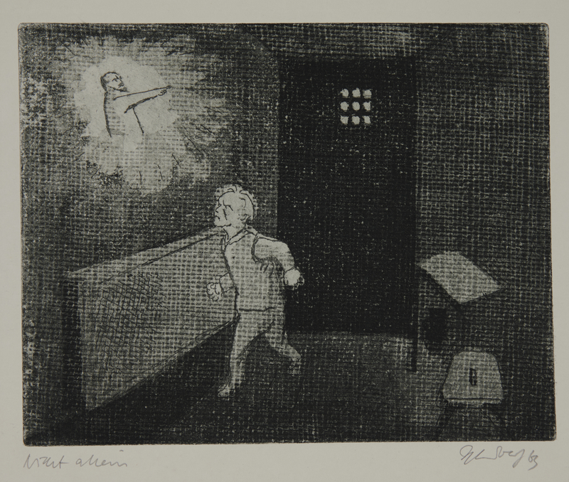 1988.12.42 front Plate 42, Herbert Sandberg series, Der Weg: prisoner with a vision of Lenin