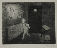 1988.12.42 front Plate 42, Herbert Sandberg series, Der Weg: prisoner with a vision of Lenin  Click to enlarge