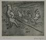 Plate 43, Herbert Sandberg series, Der Weg: men being brutally force marched by guards