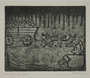 Plate 46, Herbert Sandberg series, Der Weg: uniformed prison inmates pull a wagonload of rocks