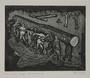Plate 47, Herbert Sandberg series, Der Weg: uniformed inmates carry a huge log