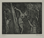 Plate 48, Herbert Sandberg series, Der Weg: inmates hung by their arms from trees