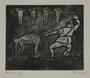 Plate 50, Herbert Sandberg series, Der Weg: guard beats a prisoner tied to a table