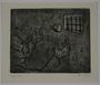 Plate 54, Herbert Sandberg series, Der Weg: a prisoner catches bread tossed through his window