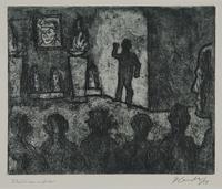 1988.12.55 front Plate 55, Herbert Sandberg series, Der Weg: memorial service for Ernst Thalmann (1886-1944)  Click to enlarge