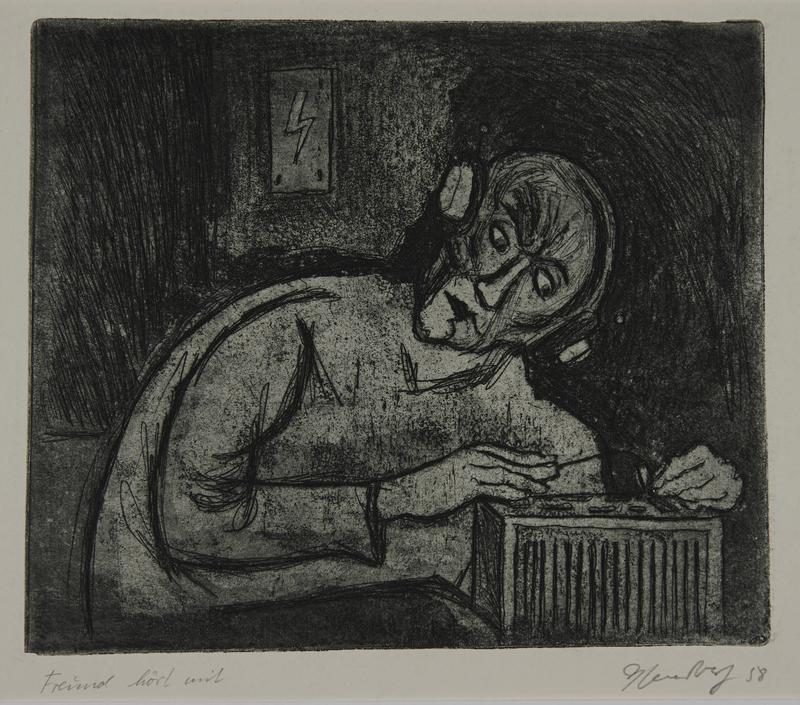 1988.12.56 front Plate 56, Herbert Sandberg series, Der Weg: prisoner with an illegal wireless radio