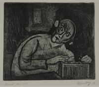 1988.12.56 front Plate 56, Herbert Sandberg series, Der Weg: prisoner with an illegal wireless radio  Click to enlarge