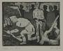 Plate 58, Herbert Sandberg series, Der Weg: men find rifles in the rubble