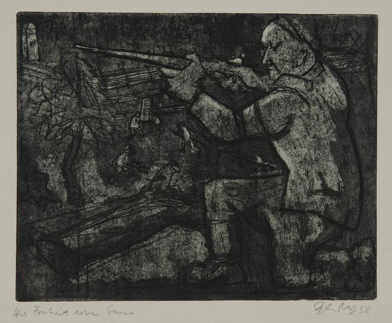 1988.12.59 front Plate 59, Herbert Sandberg series, Der Weg: resistance fighter takes aim