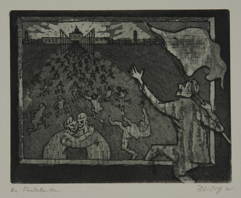 1988.12.60 front Plate 60, Herbert Sandberg series, Der Weg: prisoners rejoice in their freedom