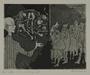 Plate 61, Herbert Sandberg series, Der Weg: local Germans made to view inmate corpses