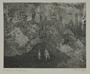 Plate 63, Herbert Sandberg series, Der Weg: two men converse among the ruins of a great city