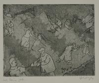 1988.12.66 front Plate 66, Herbert Sandberg series, Der Weg: men and women clearing rubble  Click to enlarge