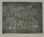 Plate 67, Herbert Sandberg series, Der Weg: man offering handbills to a line of men and women