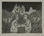 Plate 69, Herbert Sandberg series, Der Weg: 2 men agreeing to the merger of the KPD and SPD