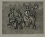 Plate 70, Herbert Sandberg series, Der Weg: four men walking to work