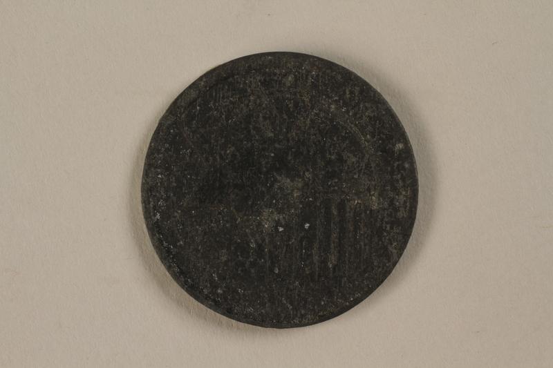 1987.90.80 front Łódź (Litzmannstadt) ghetto scrip, 10 mark coin