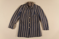 1988.132.1 front Concentration camp uniform jacket worn by a Polish Jewish inmate  Click to enlarge