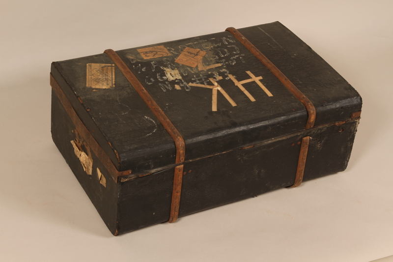 2000.546.1 back Suitcase used by a Jewish family for their flight from Germany