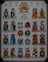 1989.324.4 front 2-sided commemorative poster, 11th Armored Division, US Army, owned by a unit veteran  Click to enlarge