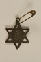 Star of David pendant with a prisoner number made by a former concentration camp inmate