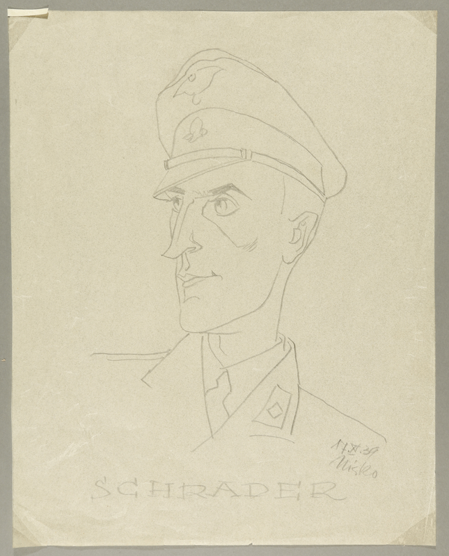 2002.490.2 front Leo Haas sketch of SS labor camp guard Schrader