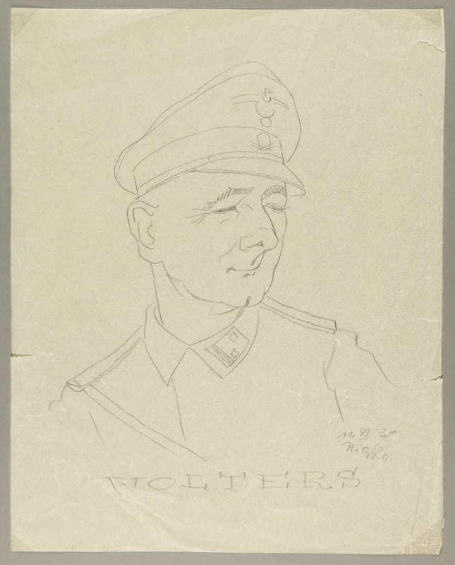 2002.490.3 front Leo Haas sketch of SS labor camp guard Wolters