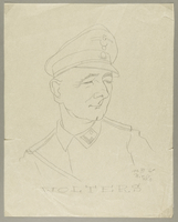 2002.490.3 front Leo Haas sketch of SS labor camp guard Wolters  Click to enlarge