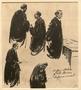 Portrait studies of defense lawyers created during the Trial of German Major War Criminals at Nuremberg
