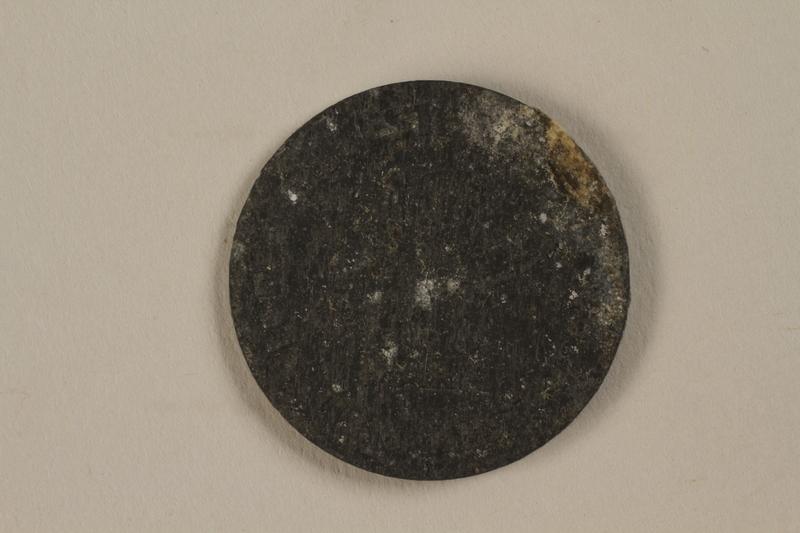 1987.90.80 back Łódź (Litzmannstadt) ghetto scrip, 5 mark coin