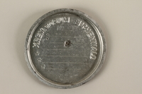 1989.113.4 front Buchenwald crematorium ash can lid  Click to enlarge