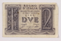 Kingdom of Italy, 2 lire note, acquired by a war crimes trials court reporter