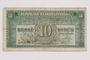 Republic of Czechoslovakia, 10 korun note, acquired by a war crimes trials court reporter