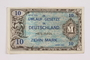 Allied Military, 10 mark note, with inscription by a war crimes trials court reporter