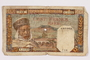 Bank of Algeria, 100 franc note, acquired by a war crimes trials court reporter