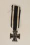 WWI Iron Cross 2nd Class medal awarded to a Jewish veteran