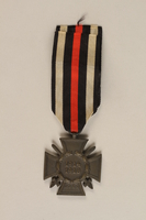 1989.113.41 front Honor Cross of the World War 1914/1918 combatant veteran service medal awarded to a German Jewish veteran  Click to enlarge