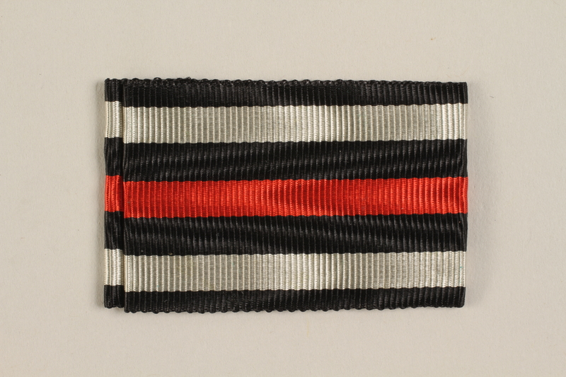 2004.388.3 front Honor Cross of the World War 1914-1918 ribbon awarded to a German Jewish soldier