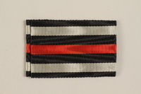 2004.388.3 front Honor Cross of the World War 1914-1918 ribbon awarded to a German Jewish soldier  Click to enlarge