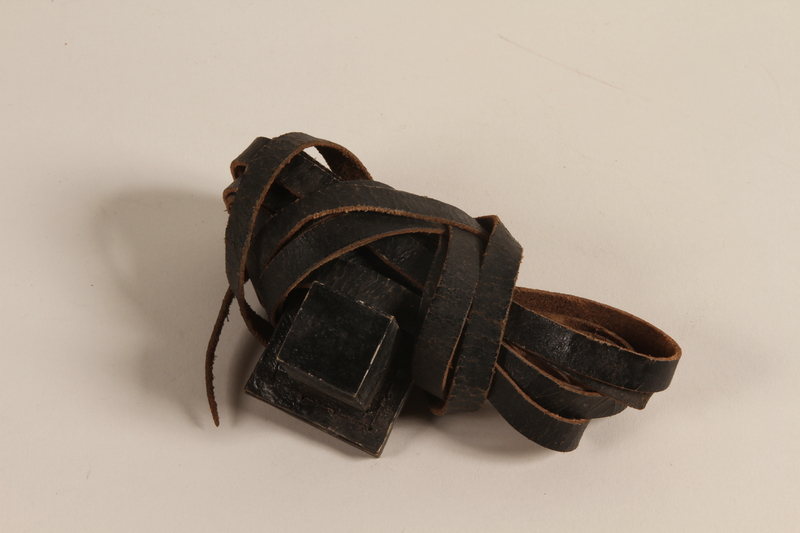 2004.446.2 a front Tefillin set hidden and recovered postwar by a Czech Jewish family
